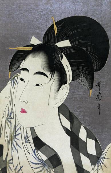 Wall Art - Photograph - Ase O Fuku Onna - Woman Wiping Sweat 1798 by Daniel Hagerman