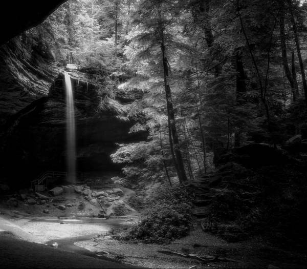 Photograph - Ash Cave Black And White by Dan Sproul