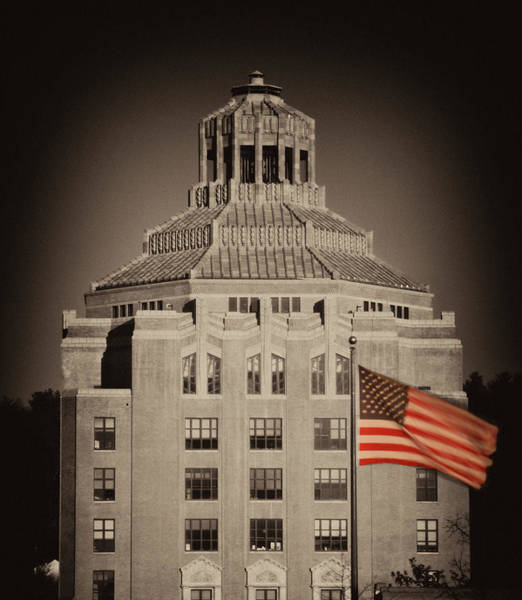 Photograph - Asheville City Hall Sepia by Joye Ardyn Durham