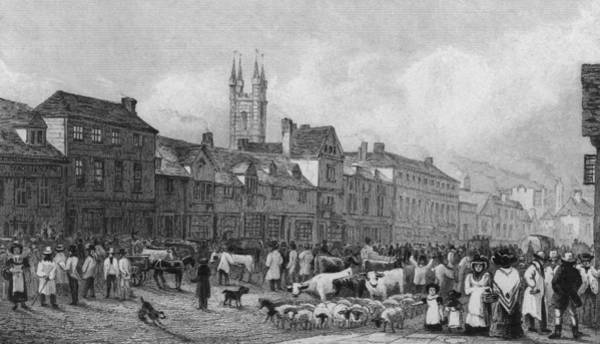 Girl And Horse Photograph - Ashford Market by Hulton Archive