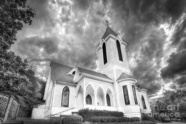 Wall Art - Photograph - Ashford Memorial Methodist Church B W Watkinsville Georgia Art by Reid Callaway