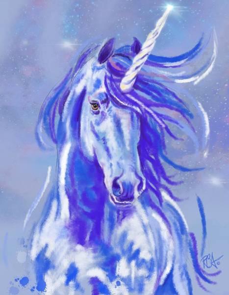Digital Art - Ashleys Unicorn by RB Anderson