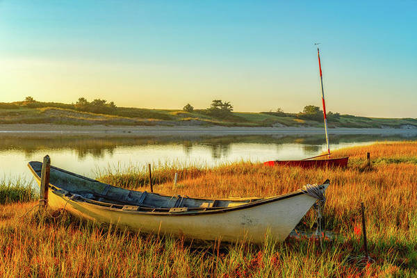 Photograph - Boats In The Marsh Grass, Ogunquit River by Jeff Sinon