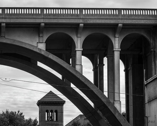 Photograph - Ashton Viaduct I Bw by David Gordon