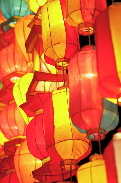 Chinese New Year Photograph - Asian Lanterns by Oneclearvision