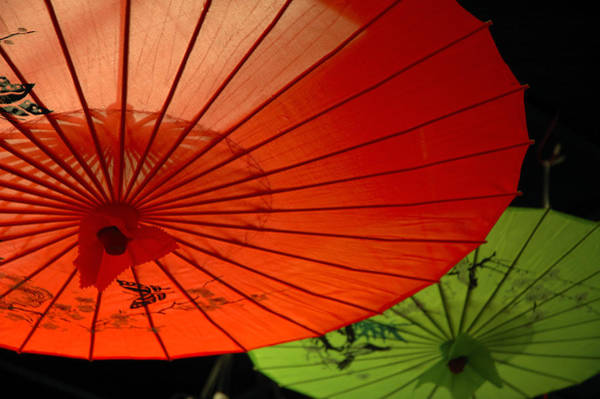 Parasol Photograph - Asian Parasols by Imagesbytrista