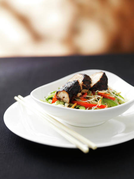 Australia Photograph - Asian Pork Salad by Stok-yard Studio