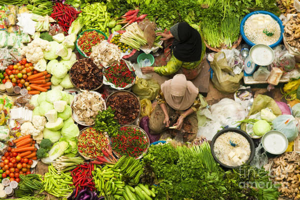 East Asia Wall Art - Photograph - Asian Vegetable Market In Kota Bharu by Szefei