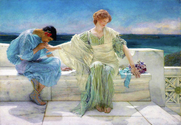 Wall Art - Painting - Ask Me No More - Digital Remastered Edition by Lawrence Alma-Tadema