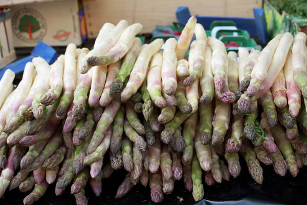Retail Photograph - Asparagus For Sale In A Market In by Owen Franken