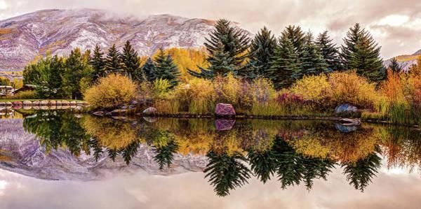 Photograph - Aspen Colorado Autumn Mountain Panorama by Gregory Ballos