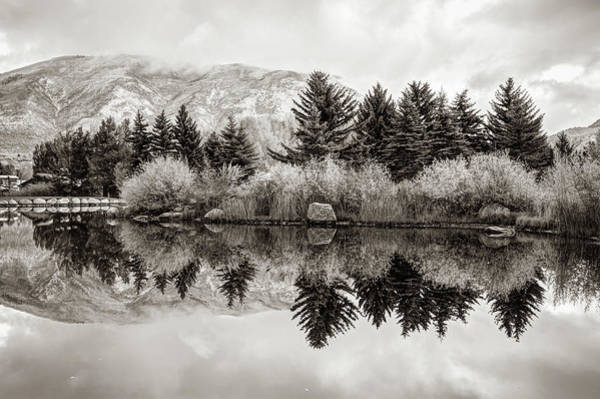 Photograph - Aspen Colorado Mountains And Sepia Reflections by Gregory Ballos