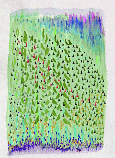 Digital Art - Aspen Green by Corinne Carroll