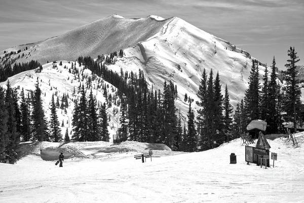 Photograph - Aspen Highlands Highland Peak Black And White by Adam Jewell