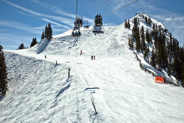 Photograph - Aspen Highlands Loge Peak Lift by Adam Jewell