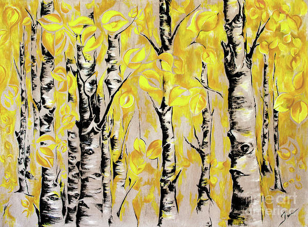 Wall Art - Painting - Aspens In Autumn by Jen Callison