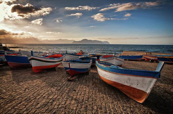 Sicily Photograph - Aspra Boatyard by Fabio Montalto