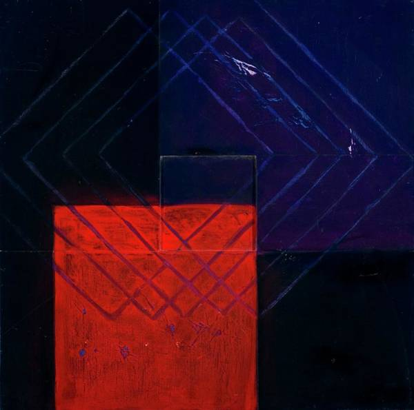 Horizontal Abstract Painting - Assemble Cube 11, 1998 Mixed Media On by Stella Salazar