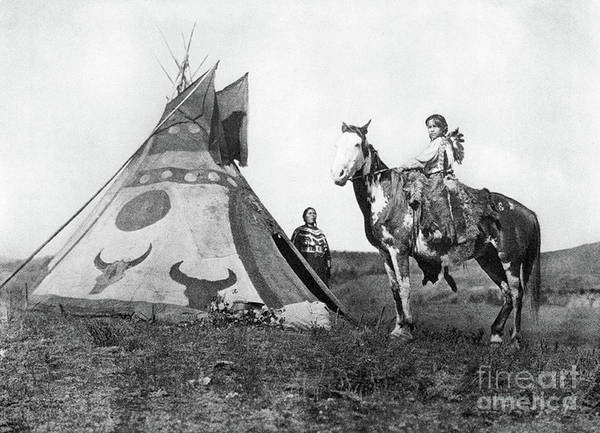 Photograph - Assiniboin Boy by Edward Curtis