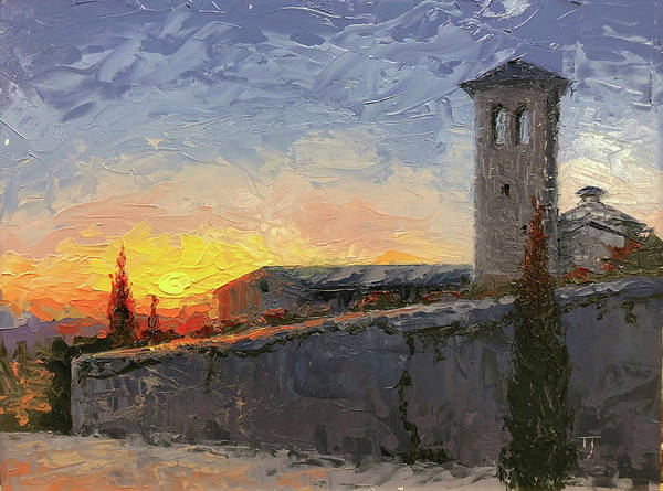 Assisi Painting - Assisi At Sunset by Timothy Jones