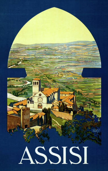 Church Photograph - Assisi Travel Poster by Graphicaartis