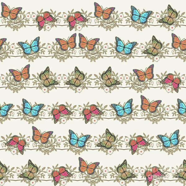 Wall Art - Digital Art - Assorted Butterflies by Gaspar Avila