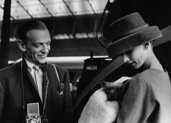 Belgian Culture Photograph - Astaire And Hepburn by Bert Hardy