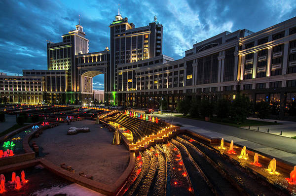 Wall Art - Photograph - Astana At Night by Nutexzles
