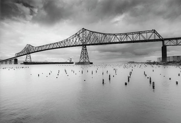 Astoria Wall Art - Photograph - Astoria-megler Bridge by Ian Gethings