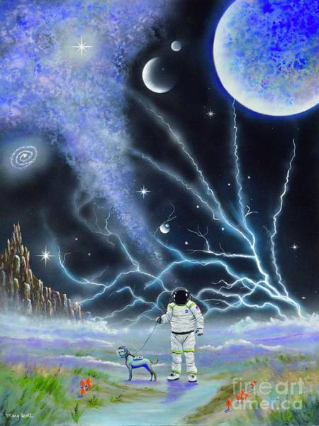 Painting - Astro Walk by Mary Scott