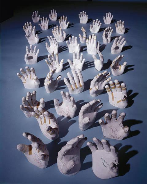 Offbeat Photograph - Astronaut Hands by Ralph Morse