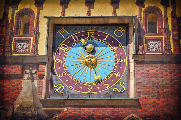Wall Art - Photograph - Astronomical Clock Wroclaw Town Hall Poland by Carol Japp