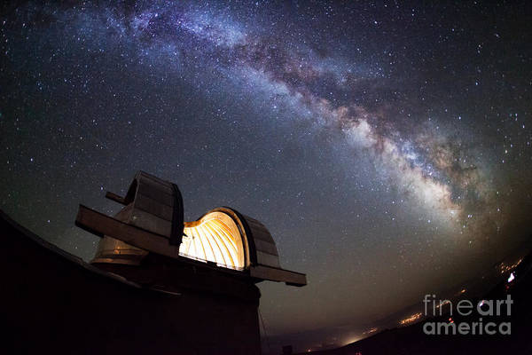 System Photograph - Astronomical Observatory Under The Stars by Smilyk Pavel