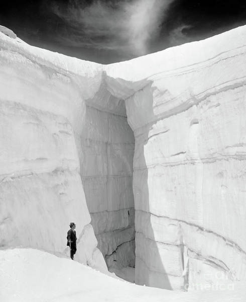 Wintry Photograph - Asulkan Glacier From Ice Grotto, Selkirk Mountains, British Columbia by American School