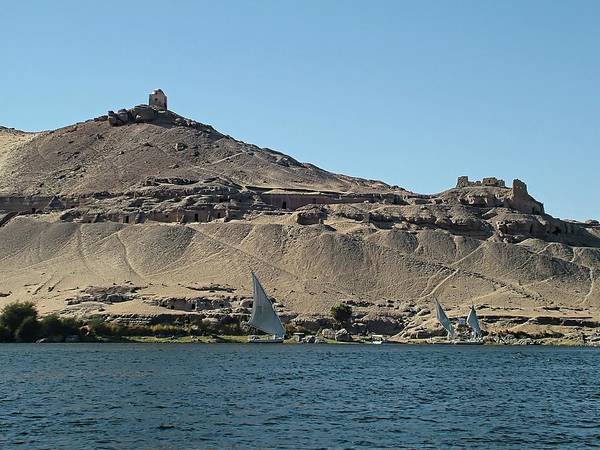 Digital Art - Aswan - Qubbet El Hawa by Joseph Hendrix