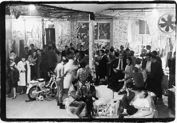Warhol Photograph - At A Factory Party by Fred W. McDarrah
