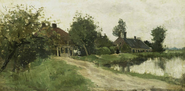Painting - At Breukelen by Nicolaas Bastert