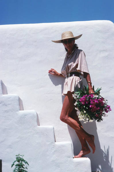 Sun Hat Photograph - At Home In Ibiza by Slim Aarons