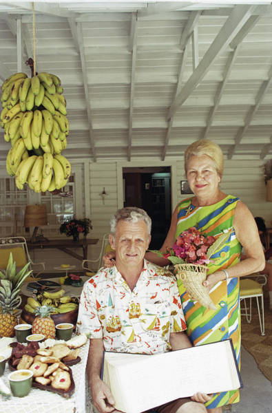 Adult Coloring Book Photograph - At Home In The Bahamas by Slim Aarons