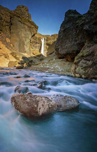 Wall Art - Photograph - At Kvernufoss Waterfall Iceland by Joan Carroll