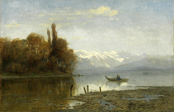 Painting - At Lake Starnberg by Arnold Steffan