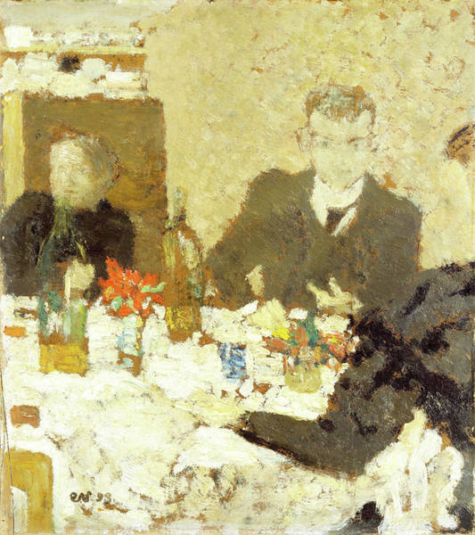 Wall Art - Painting - At Table - Digital Remastered Edition by Edouard Vuillard