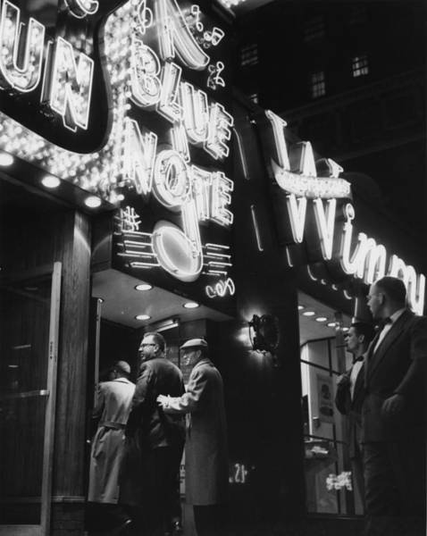 Crowd Photograph - At The Blue Note Cafe by Chicago History Museum