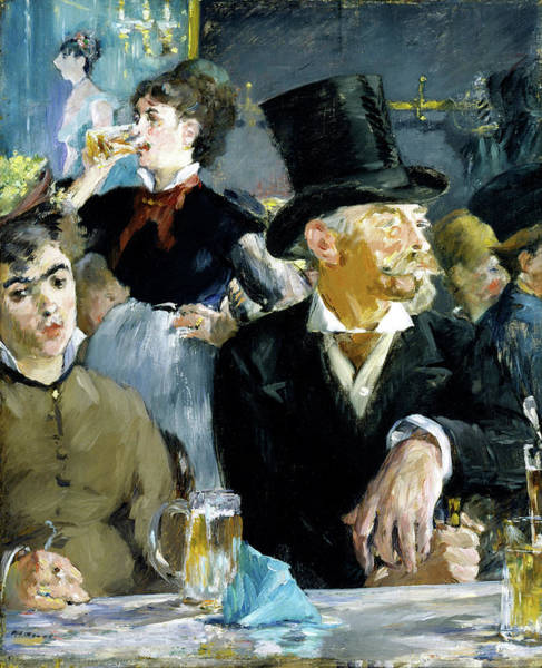 Wall Art - Painting - At The Cafe - Digital Remastered Edition by Edouard Manet