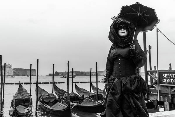 Photograph - At The Carnival - Venice by Georgia Fowler