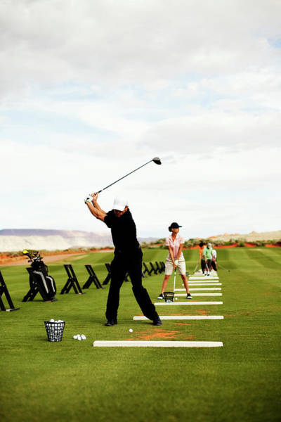 Practice Photograph - At The Driving Range by Richvintage