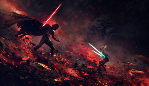 Sith Digital Art - At The End Of All Things by Guillem H Pongiluppi