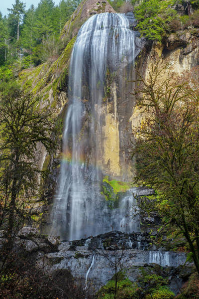 Photograph - At The End Of The Rainbow At Sliver Falls by Matthew Irvin