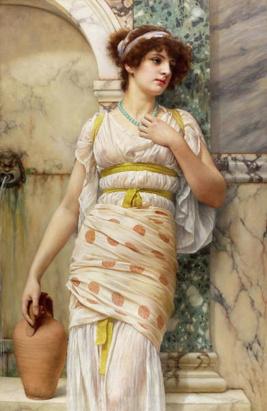 Tits Painting - At The Fountain by John William Godward