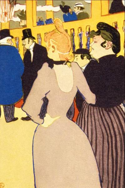 Wall Art - Painting - At The Moulin Rouge, The by Henri de Toulouse-Lautrec